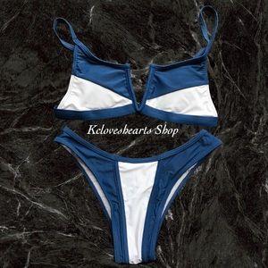 Other - Colorblock Cup Bikini Set